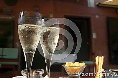 Enjoy champagne