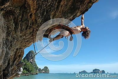 Enjoy climbing! Stock Photo