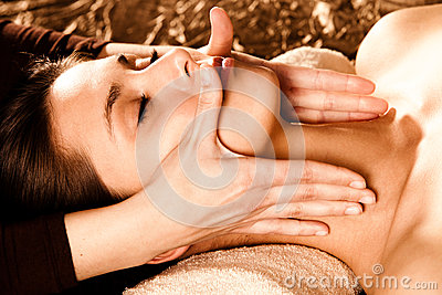 Enjoy in face massage
