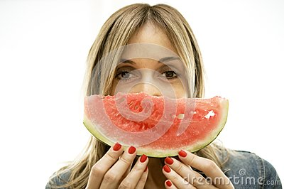 Enjoy the perfect slice of watermelon.