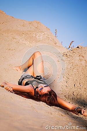 Enjoy in sand