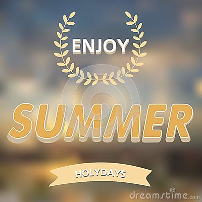 Enjoy summer vector typography