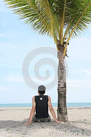 Enjoy on tropical beach