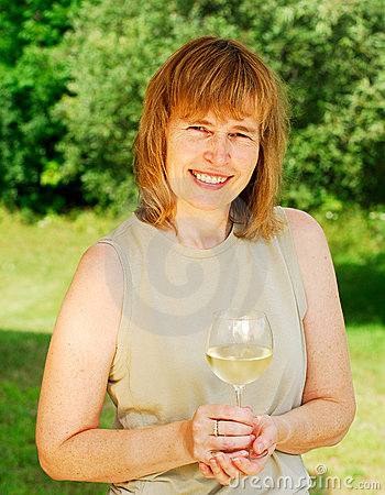 Free Enjoying A Glass Of Wine Stock Photos - 3055593