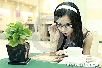 Enjoying coffee time