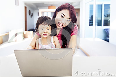 Enjoying entertainment on internet at home