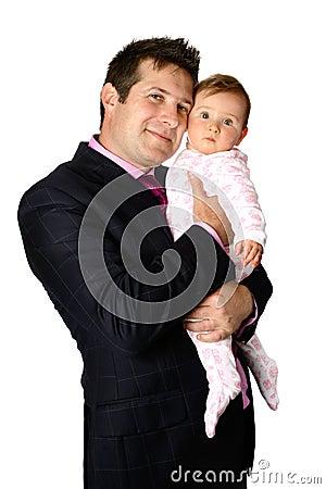 Enjoying his baby