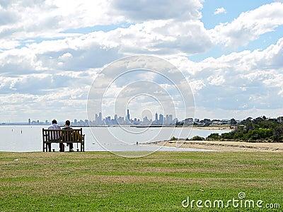 Enjoying the Melbourne skyline