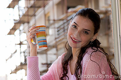Enjoying in moment with coffee