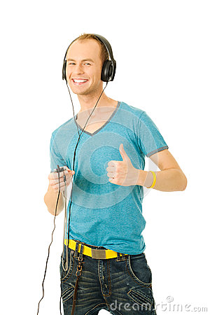 Enjoying Music Stock Photos - Image: 25508543