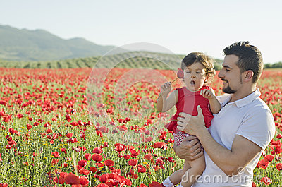 Enjoying one day with flowers