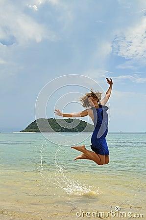 Enjoying sun and beach on islands of Thailand