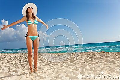 Enjoying vacation and sunlight