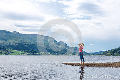 Enjoyment  - free happy woman enjoying landscape