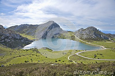 Enol lake in Asturias