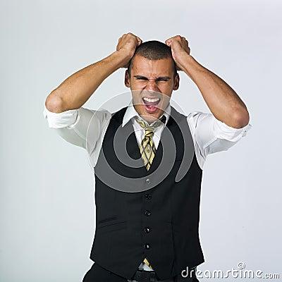Enraged businessman