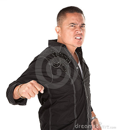 Enraged Latino Man
