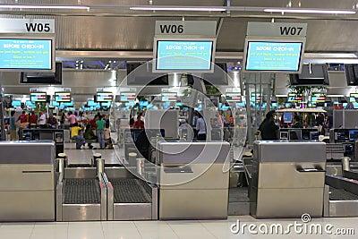 Enregistramiento del aeropuerto