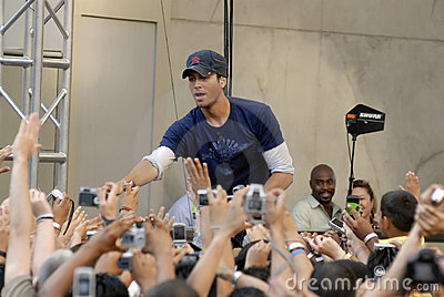 Enrique Iglesias performing live. Editorial Stock Image