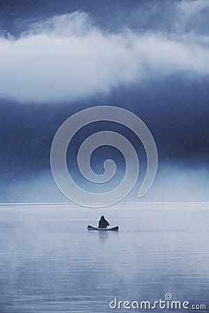 Ensam fiskare