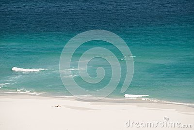 Ensam rekreation för strand