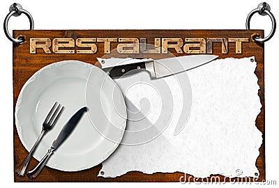Enseigne de restaurant avec le chemin de coupure - Plats cuisines sous vide pour restaurant ...