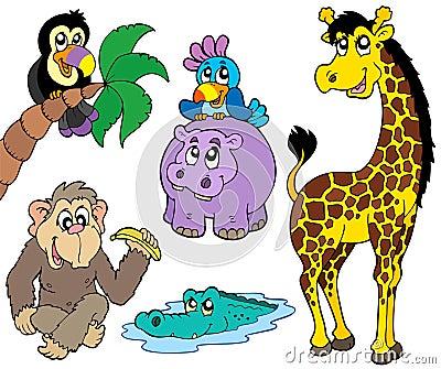 Ensemble d animaux africains 2