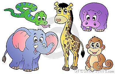 Ensemble d animaux africains mignons