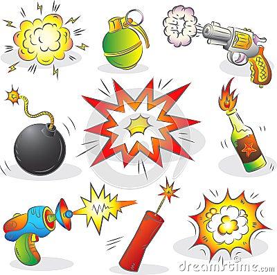Ensemble d explosifs et d arme