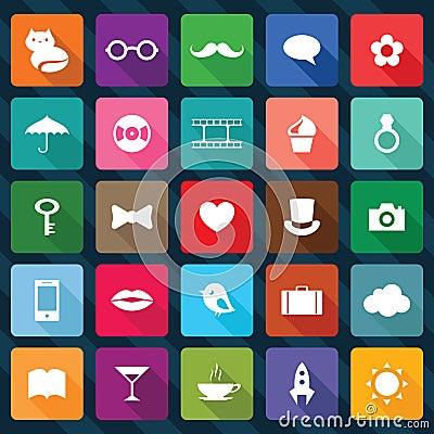 Ensemble d icônes carrées