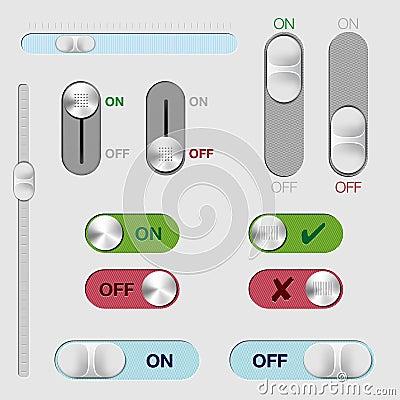 Ensemble de boutons et de galetages de commutateur  MARCHE/ARRÊT