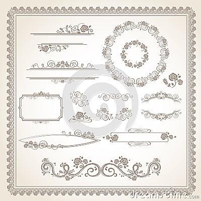 ensemble de cadre de vintage images stock image 38713264. Black Bedroom Furniture Sets. Home Design Ideas
