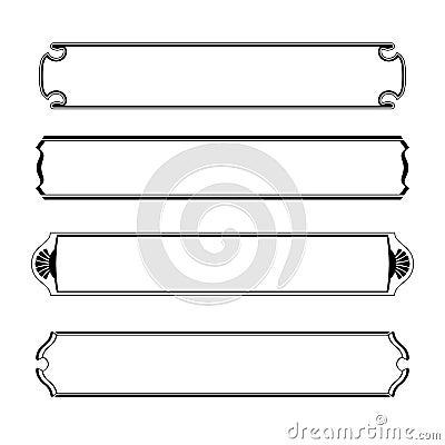 ensemble de cadre noir simple de fronti re de banni res image stock image 32079141. Black Bedroom Furniture Sets. Home Design Ideas
