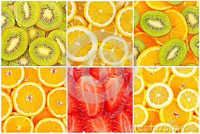Ensemble de fruits sains savoureux