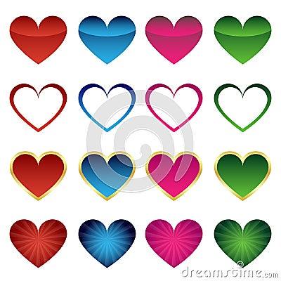 Ensemble de graphismes de coeur