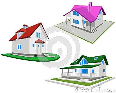 Ensemble de maisons