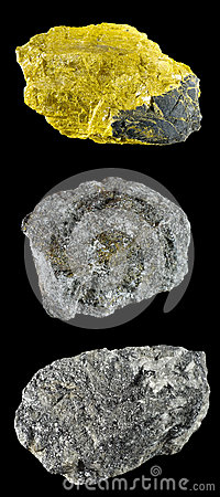 Ensemble de roches et de minerais â2