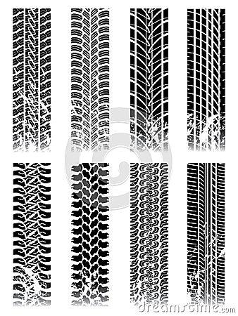 Ensemble neuf de pistes de pneu