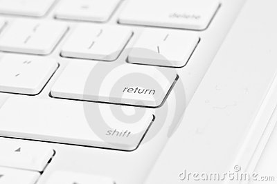 Enter key on a computer