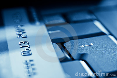 Enter key and credit card