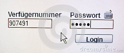 Enter password for online banking