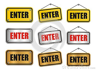 Enter signs