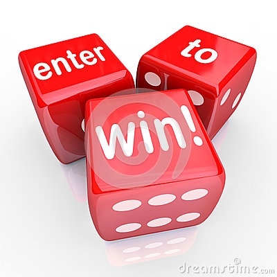 Free Enter To Win 3 Red Dice Contest Winning Entry Royalty Free Stock Photo - 32518625