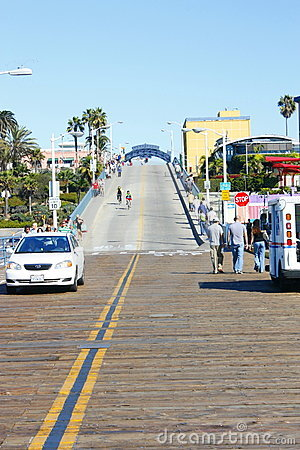 Enterance of Santa Monica Pier Editorial Image