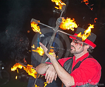 Entertainer at Hogmanay. Editorial Image