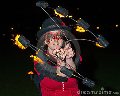 Entertainer at  Inverness New Year Celebrations. Editorial Image