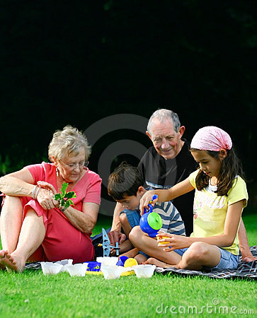 Entertaining grandchildren