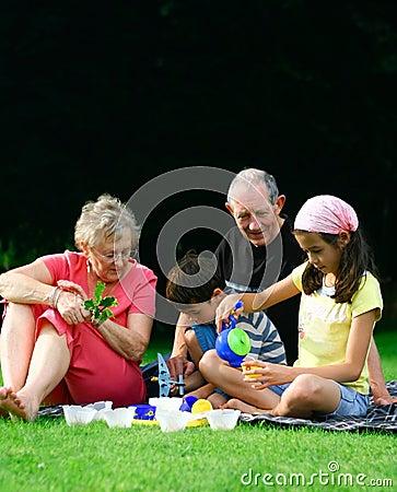 Entertaining grandchildren