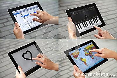 Entertainment on Apple Ipad2 Editorial Stock Image
