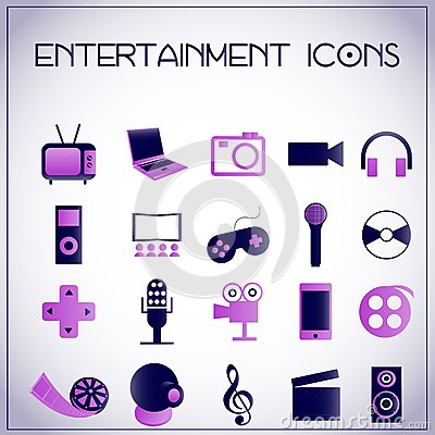 Entertainment icons
